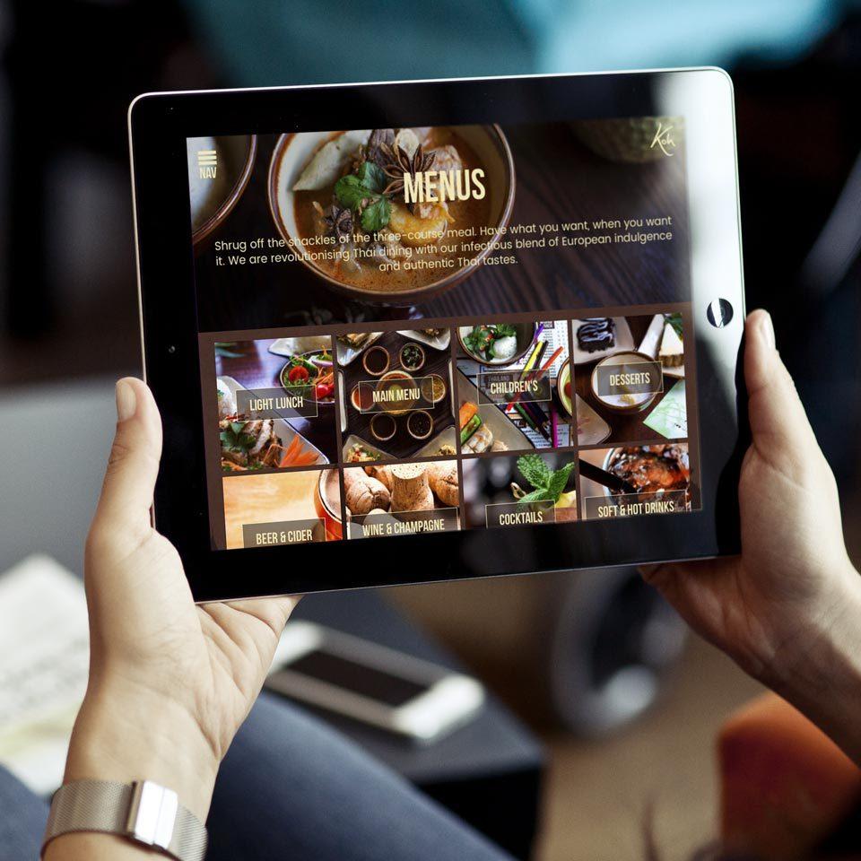 Koh thai tapas website design and build
